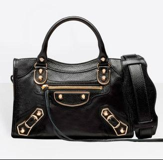 Balenciaga Bag classic metallic edge City Mini