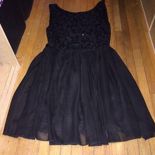 Black fancy dress szM