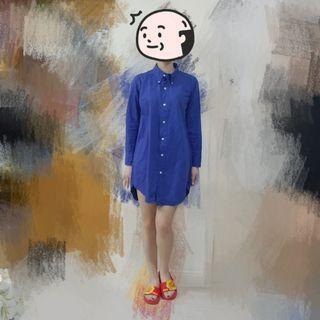 Polo 藍色襯衫 恤衫 連身裙 | Top Tee Dress Shirt