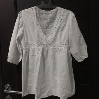 Zara white summer dress