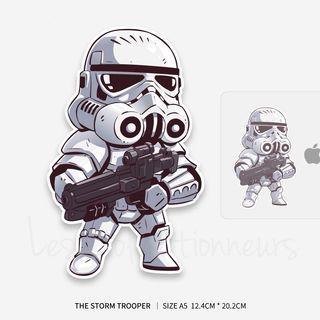 Star Wars Stormtrooper Sticker 12x20cm Luggage Sticker Macbook Laptop Stickers