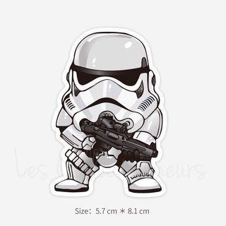 Star Wars Stormtrooper Sticker 5x8cm Luggage Sticker Macbook Laptop Stickers