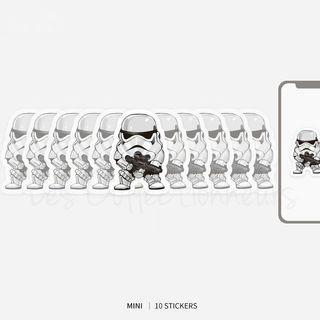 Star Wars Stormtrooper Sticker 10pcs Mini Luggage Sticker Macbook Laptop