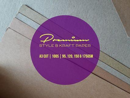 A3 Kraft Paper 100S (Style B) suitable for Wedding / Birthday / Thank You Tags (100s)