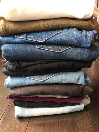 10 pairs of pants and jeans for $40