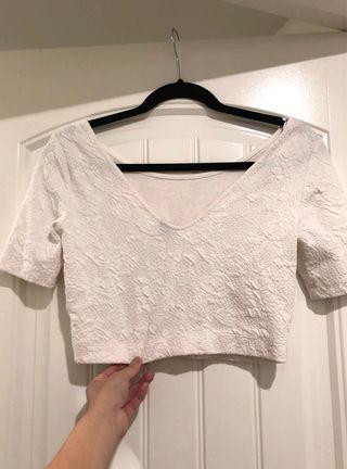 H&M 短版五分袖上衣