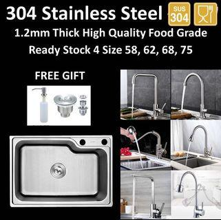 High Quality 304 Stainless Steel Kitchen Sink