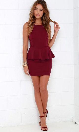 Paplum 2 in 1 dress
