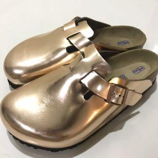 Birkenstock Boston Metallic Sandals