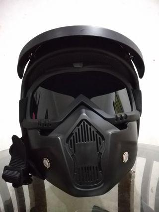 Helm Carglos Woth Google Mask All Variant Warna