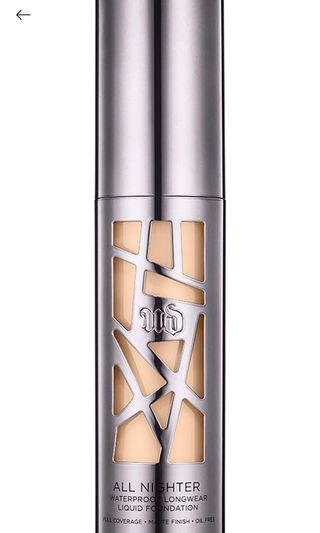 Urban Decay All Nighter Foundation in most shades available