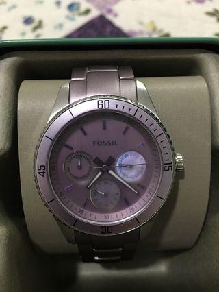 Purple Fossil Watch #GayaRaya