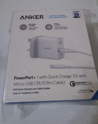 Anker PowerPort+ 1 with quick charge 3.0 and micro usb !