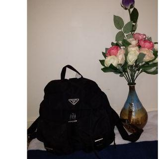 Pre owned authentic PRADA backpack