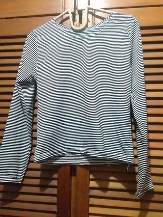 #BAPAU Baju stripe panjang