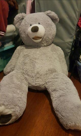 Giant Grey Plushie Bear