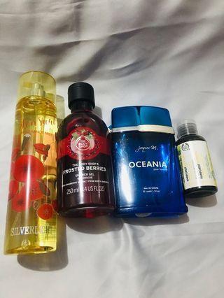 Parfume, body wash, shampo, body mist