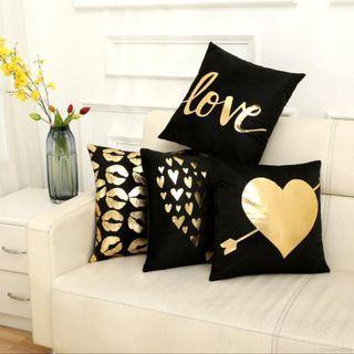 Black & Gold Cushion Cover Series