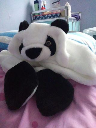 Panda Hat + hand warmers