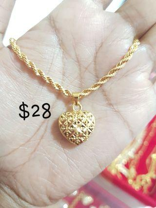 64f77a3bb necklace gold 24k | Jewellery | Carousell Singapore