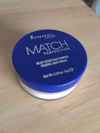 rimmel london match perfection loose transparent powder