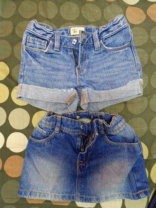 Skirt & Short Pants Jeans