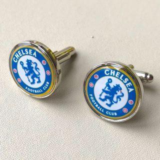 (全新 現貨) 車路士 車仔 足球 球會 袖口鈕 袖口扣 袖扣 CFB Chelsea FC Football Club Cufflinks