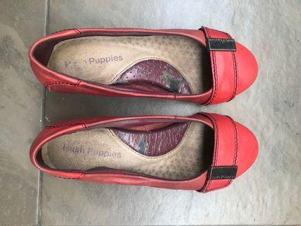#BAPAU hush puppies red shoes