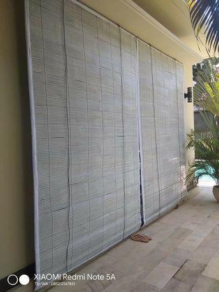 Krey bambu cat warna putih #BAPAU