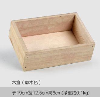[instocks] wooden rectangle box