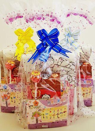 Goodie bag, goody bag, colouring bag, windchime, birthday goodie bag