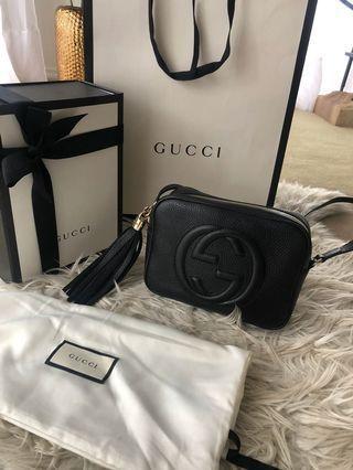 BRAND NEW GUCCI SOHO DISCO BLACK BAG 100% AUTHENTIC