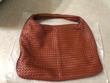 bv hobo veneta bag large磚紅啡紅色