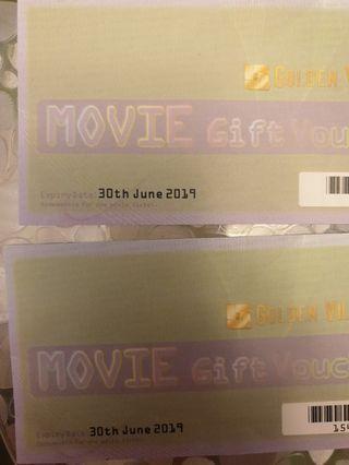Golden village movie gift voucher