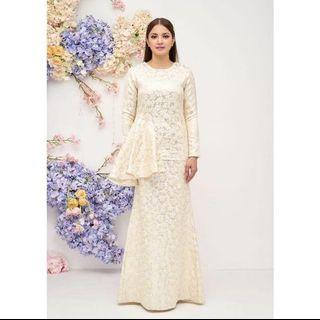 Fazbulous Modern Kurung Peplum in Cream