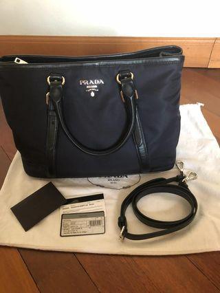 Preloved Prada Tote - comes with detachable sling