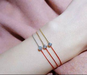 🚚 [預購]香港黃大仙開運單鑽紅繩手鏈