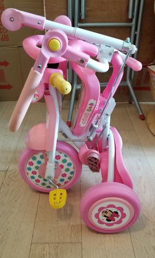 兒童可摺三輪車 (粉紅色米妮)
