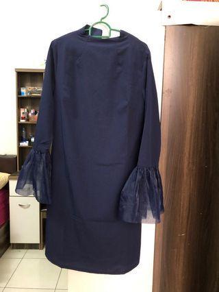 Thavia Phoebe navy blue top tunic