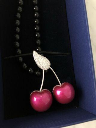 Swarovski Crystal Cherry Necklace