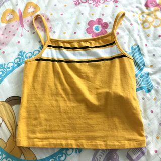 🚚 cotton on yellow sqaure halter