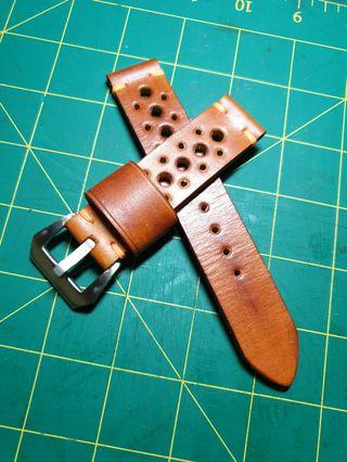 🚚 22mm Leather watch strap cowhide