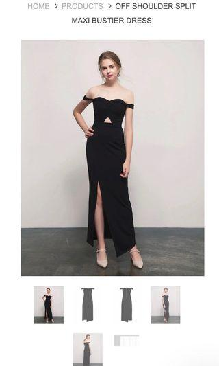 AIRSPACE off shoulder sweetheart bustier maxi