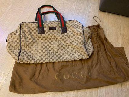 99%new 超新淨 Gucci bag 大旅行袋