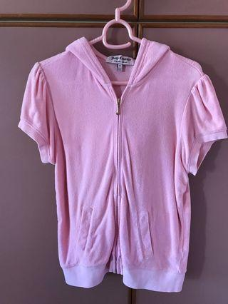 🚚 Juicy Couture baby pink short sleeve hoodie