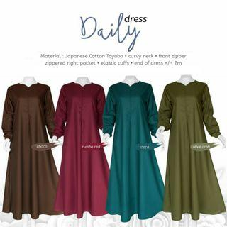Jubah Long Muslimah Dress