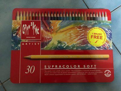 瑞士卡達色鉛筆 專家級 水性 30色