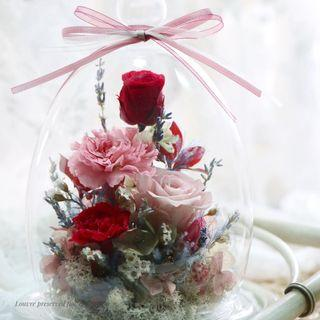Preserved Flowers Glass Dome