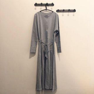 Grey Maxi Dress [Busui Friendly]