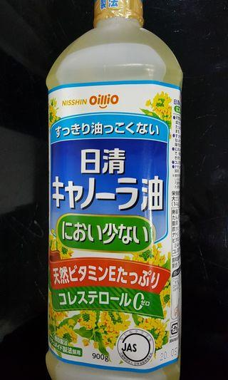🚚 現貨 日本oillio 日清芥花籽油 NISSHIN芥籽油 天然維他命E添加 清爽零膽固醇